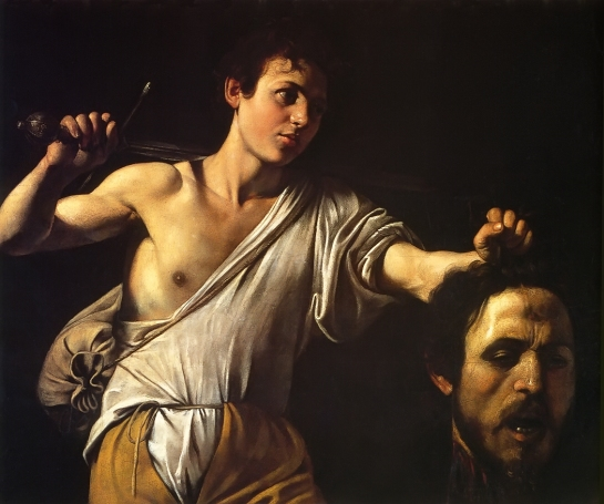 David Showing Goliath's Head by Caravaggio